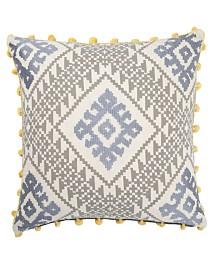 "Museum Ifa By Jaipur Living Pueblo Gray/Yellow Ikat Down Throw Pillow 20"""