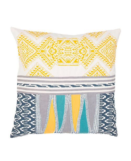 Jaipur Living Museum Ifa By Mesa Yellow/Teal Geometric Down Throw Pillow 22""