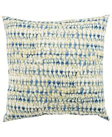"Jaipur Living Perron Fresco Blue/White Abstract Indoor/ Outdoor Throw Pillow 18"""