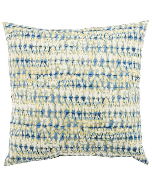 Jaipur Living Perron Fresco Blue/White Abstract Indoor/ Outdoor Throw Pillow 18""