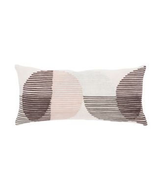 Nikki Chu By Salamanca Pink/Ivory Geometric Poly Throw Pillow 10