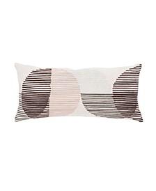 """Nikki Chu By Salamanca Pink/Ivory Geometric Throw Pillow 10"""" x 21"""" Collection"""