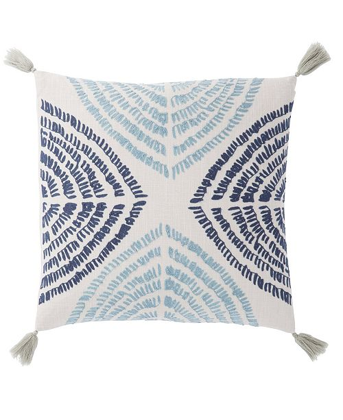 Jaipur Living Nikki Chu By Angelika Blue/Silver Textured Poly Throw Pillow 22""