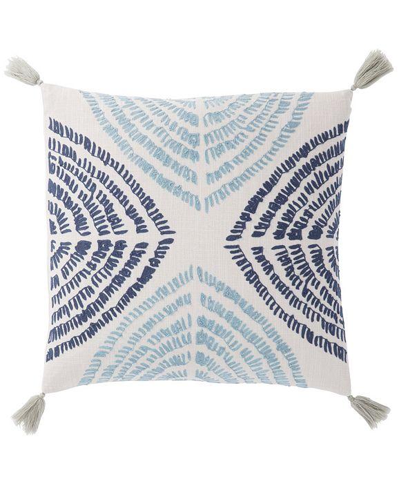 "Jaipur Living Nikki Chu By Angelika Blue/Silver Textured Poly Throw Pillow 22"""