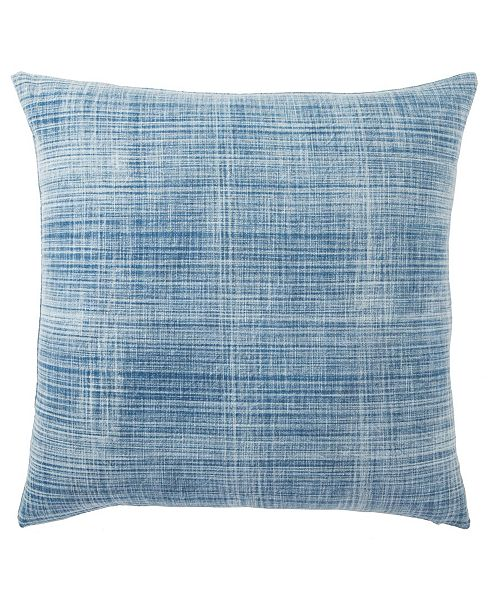Jaipur Living Morgan Handmade Soild Blue/White Poly Throw Pillow 22""