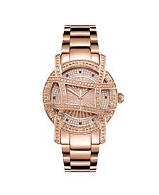 10 YR Anniversary Women's Olympia Diamond (1/5 ct.t.w.) 18K Rose Gold Plated  Watch