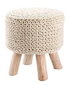Montana Knitted Cream Stool