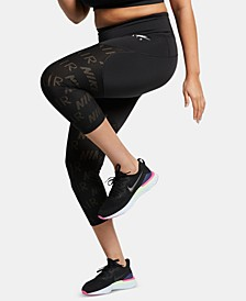 Plus Size Air Cropped Running Leggings