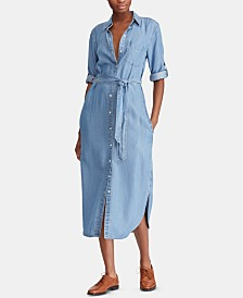 Lauren Ralph Lauren Denim Twill Shirtdress