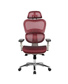 Techni Mobili Deluxe Mesh Office Executive Chair, Quick Ship