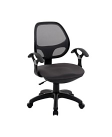 Techni Mobili Mid-back Task Office Chair, Quick Ship