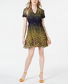 foxiedox 3D Butterfly Fit & Flare Dress