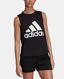 adidas Sports ID Relaxed Logo Tank Top
