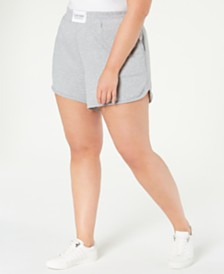 Calvin Klein Performance Plus Size Smocked-Waistband Shorts