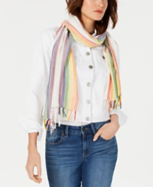 I.N.C. Rainbow Woven-Border Wrap, Created for Macy's