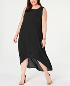 Alfani Plus Size High-Low Maxi Dress, Created for Macy's