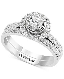 EFFY® Diamond Halo Bridal Set (1/2 ct. t.w.) in 14k White Gold