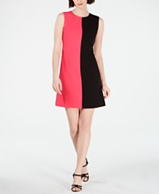 Calvin Klein Sleeveless Colorblock Shift Dress