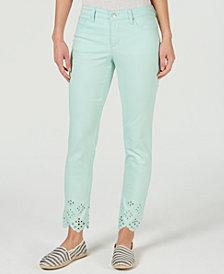 Charter Club Bristol Eyelet-Hem Skinny Jeans, Created for Macy's