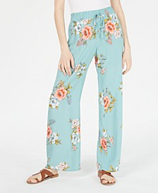 Juniors' Printed Soft Palazzo Pants