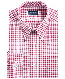 Classic/Regular-Fit Stretch Wrinkle-Resistant Plaid Dress Shirt, Created for Macy's