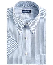 Club Room Men's Classic/Regular Fit Stretch Bengal Stripe Short Sleeve Dress Shirt, Created for Macy's