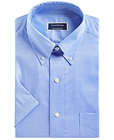 Men's Classic/Regular-Fit Stretch Pinpoint Dress Shirt, Created for Macy's