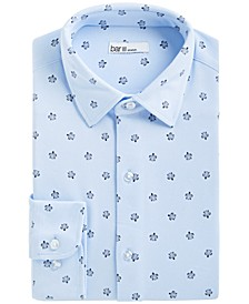 Men's Slim-Fit Stretch Sea Turtle-Print Knit Dress Shirt, Created for Macy's