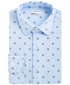 Bar III Men's Slim-Fit Stretch Sea Turtle-Print Knit Dress Shirt, Created for Macy's