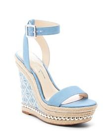 Jessica Simpson Alinda Woven Platform Wedge Sandals