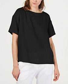 Textured Organic Cotton Top, Regular & Petite