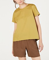 726172b2d133c Eileen Fisher Organic Cotton Round-Neck Stretch Top