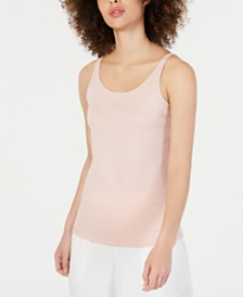 Eileen Fisher Scoop-Neck Sleeveless Top, Regular & Petite