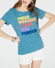 Hybrid Juniors' Hello Weekend T-Shirt