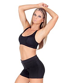 InstantFigure Women's Compression Racer Back Crop Top Bra