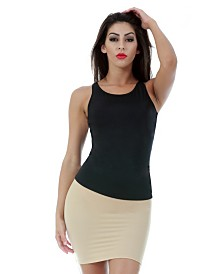 InstantFigure Scoopneck Front and Back Neck Tank Top
