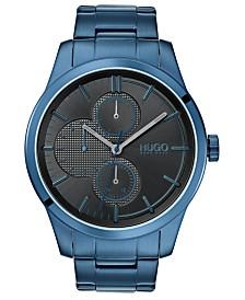 HUGO Men's #Discover Blue Stainless Steel Bracelet Watch 46mm