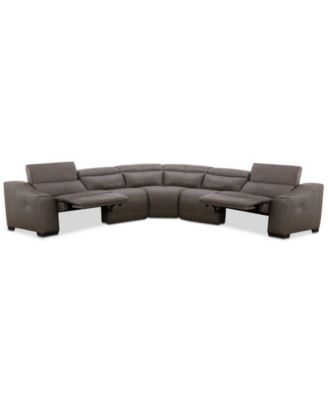 Ruthin 5-Pc. Leather Sectional Sofa with 2 Power Recliners