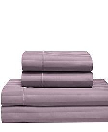 Cooling Cotton Satin Stripe California King Sheet Set