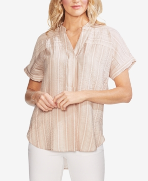 Vince Camuto Tops STRIPED HIGH-LOW TOP