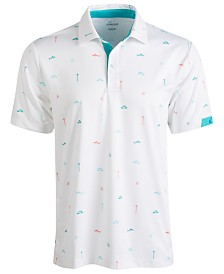 Attack Life by Greg Norman Men's Printed Polo