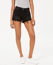 Hudson Jeans Gemma Black Jean Shorts