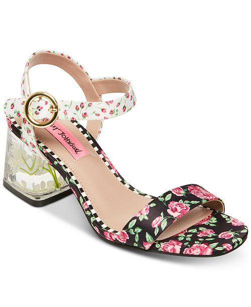 Betsey Johnson Livvie Block-Heel Sandals