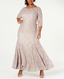 Alex Evenings Plus Size Embellished Fit & Flare Gown