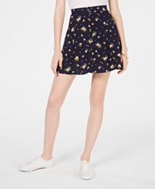 Ultra Flirt Juniors' Floral-Print Mini Skirt