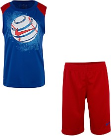 Nike Toddler Boys 2-Pc. Dri-FIT Sport Graphic Muscle Tank & Shorts Set