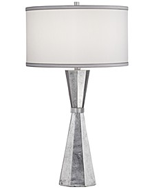 Poly Silver Leaf with Crystal Table Lamp