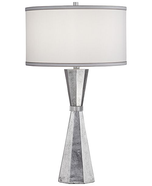 Pacific Coast Poly Silver Leaf with Crystal Table Lamp