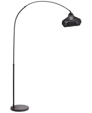 Pacific Coast Arc Metal Black String Shade Floor Lamp