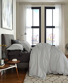 FlatIron Cotton/Linen Queen Duvet Cover